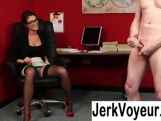 CFNM ladies get a guy to jerk off