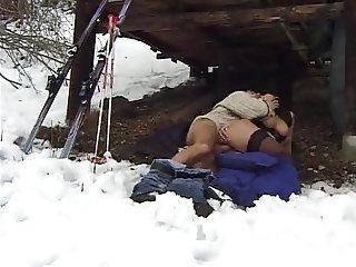 Gros seins a la neige