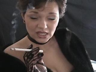 Smoking fetish angel teach how to smoke
