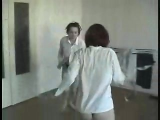 Lesbian Catfight, with some serious kicking