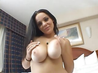 Brunette With Big Tits Sucks and Fucks POV
