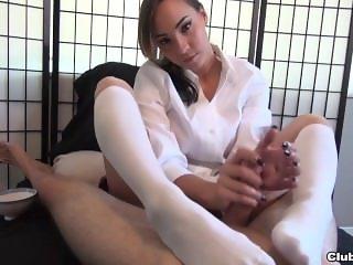 Sasha Foxxx White Socks Handjob