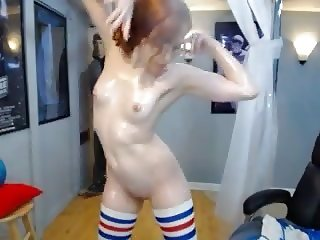 Red Head Oil Striptease