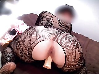 My whore slut wife shows off her big ass