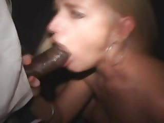 Dirty blond booth fuck slut