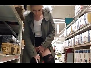 Hardware Store exhibitionist girl