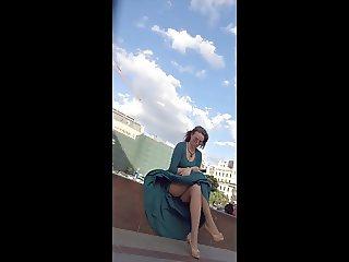 Green Dress Legs