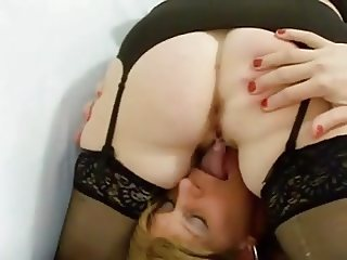 Sissy Cuck helps clean