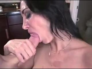 MILF Ava Addams blows and gives a titjob