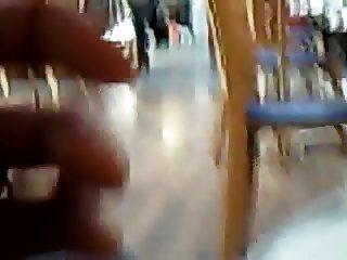 Flashing pussy at restaurant
