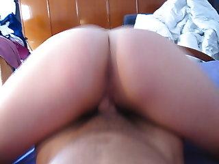 Venezuelan exgirlfriend riding cock until creampie
