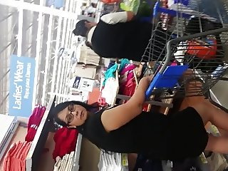 Sexy Dark Haired Milf Upskirt At Walmart Part 2 (face)