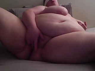 BBW Talks Dirty & Fingers Shaved Pussy