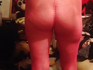 spying on wife pink stockings