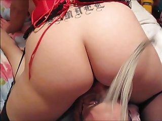 Blonde Ass Whipped & Cunt Licked