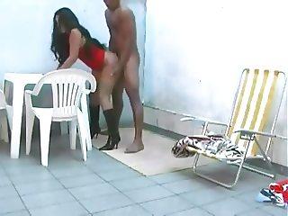 Stunning latina fucked in high heels