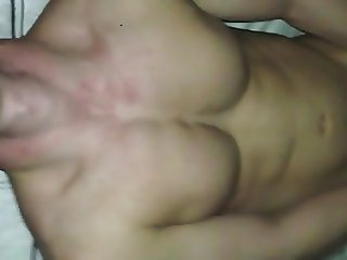 Covering my buddy's chest with cum, then he adds his