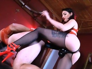Pegging A guys Ass With Hugh Strap-on