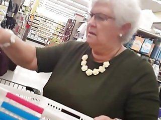 Grandma upskirt