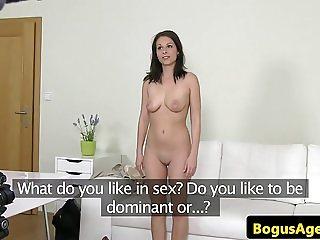 Amateur casting euro cumsprayed on pussy