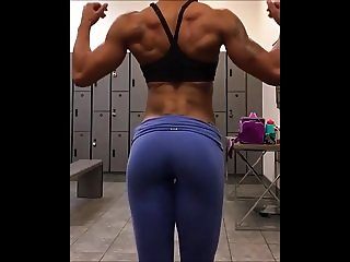fit ebony milf works out and shows off her body