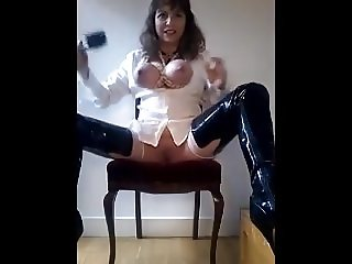 Horny Mommy - Milking Tied Udders