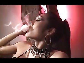 Ladyboy smoking like a boss
