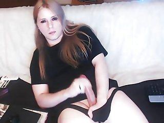 Transgender solo masturnation