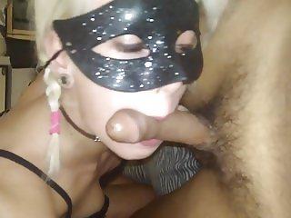 Teen slave great blowjob