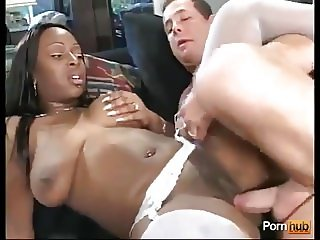 Ebony Tits White Dick