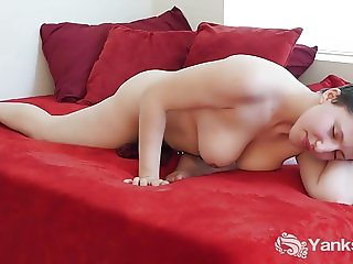 Busty Jenny Humping The Bed