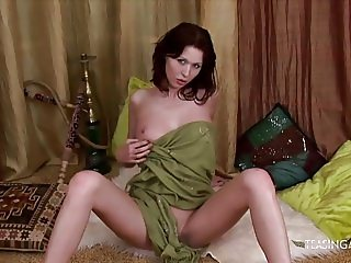 Incredible brunette with big tits loves teasing you