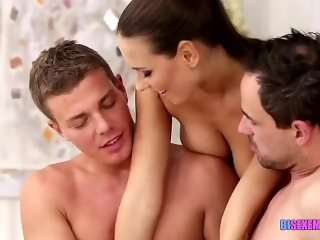 Bisexual fun with a hot babe