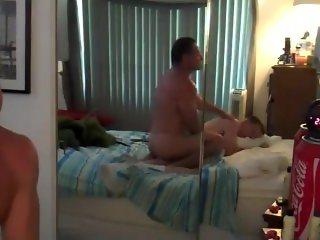Muscle Dad Rams Desperate Boy