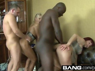 BANG.com: Delicious DP Combo with Hottie Milfs Getting Stuck