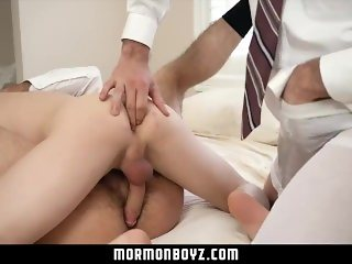 MormonBoyz-Daddies Take Turns with Young Church Boy