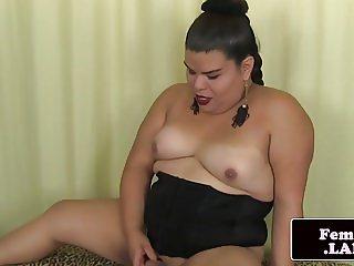 Curvy natural ladyboy Mia Venoom solo session