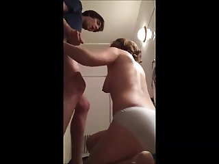 mom janet suckin' cock in her panties