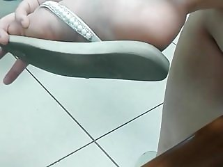 CANDID FEET - Sexy Feet & Soles In White Slippers