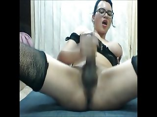 TS with glasses cumming