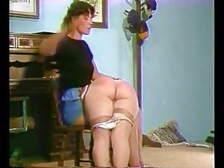 Pantyhose down spanking for Keri