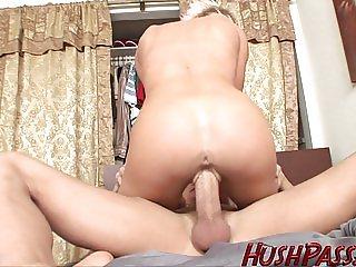 Mykal sucks and fucks her man to wake him up!