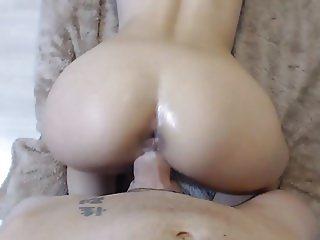 Hot couple fucking doggy style POV big cock