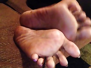 Mature ebony feet