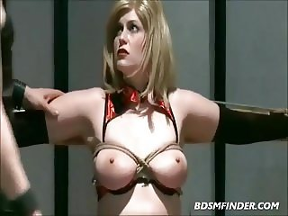 Tied Milf Mom Spanked And Masturbated