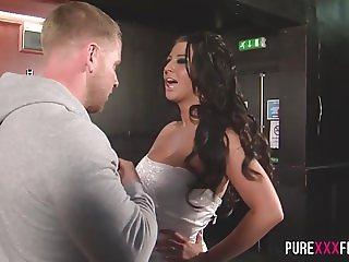 Busty Cuckold Bride shagging the bartender