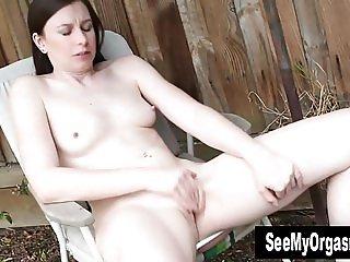 Small Titted Brunette Taliah Masturbating