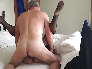 Stockings on lover in deep