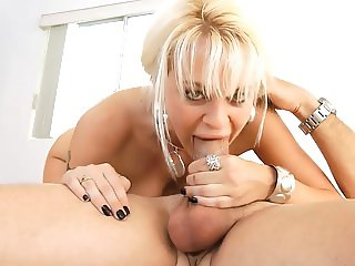 Blonde MILF Swallows Cum