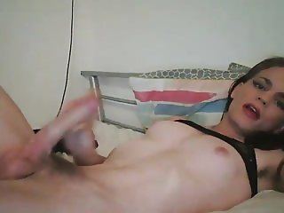 NH Self suck and eat cum
